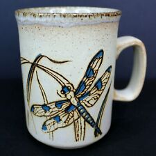 "Vintage Dunoon ""Dragonfly"" Ceramic Stoneware Art Pottery Mug Made in Scotland"