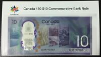 2017 Canada Commemorative $10 Dollar Polymer Bill in Protective Sheet / Card