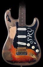SRV Script Decals Stickers Stratocaster #1 Number One Vintage Strat