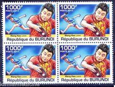 Wang Hao, Chinese Table Tennis World Champion, Sports Burundi 2011 MNH Blk
