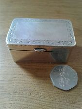 ANTIQUE GEORGE III MASSIVE  UNMARKED(TEST'S AS SILVER) TABLE NUTMEG GRATER c1780