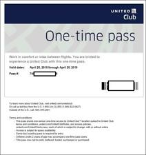 2 Passes for United Club One Time Pass EXP 7/28/2019 NOT CHASE E-pass available