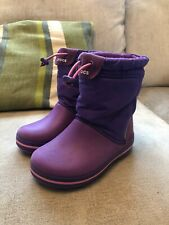 Kids Crocband Lodgepoint Boot Purple Size 11