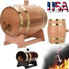 1.5L/3L/5L Vintage Oak Timber Wine Barrel For Beer Whiskey Rum Port Wooden Keg