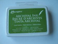 Ranger Tinta archival Hoja Almohadilla De Tinta Verde Libre De Ácido Permanente Impermeable BNIP