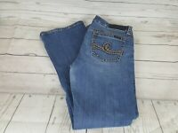 Seven 7 Blue Wash Bootcut Ripped Distressed Women Jeans Size 12