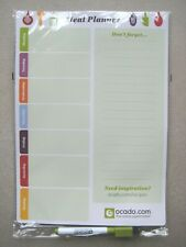 Ocado Magnetic Meal and Shopping List Planner with Dry Wipe Pen. NEW