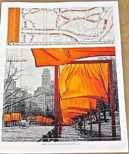 Christo & Jean Claude The Gates -Central Park NYC 2003 Poster 2 14x11