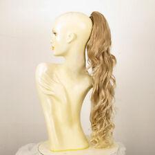 Postiche queue cheval longue blond méché blond très clair ondulée 65cm 10/15t613