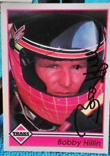 BOBBY HILLIN JR AUTOGRAPHED 1992 TRAKS NASCAR RACING CARD #125 HAND SIGNED