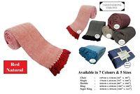 Herringbone 100% Cotton Sofa & Bed Throw Blanket Bedspread Settee Cover