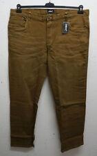 Jeans da uomo marrone regolare