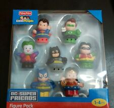 NEW Fisher Price Little People DC Super Friends Figure Pack of 7