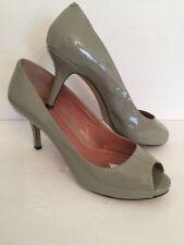 "9.5B Vince Camuto Gray Patent Leather PeepToe Heel 3 1/8"""