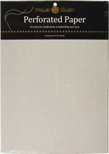 """Mill Hill® 14-Count Perforated Paper - 9"""" x 12"""" - White - 2 Sheets Per Package"""