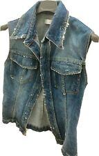 PINKO giubbino jeans smanicato JACKET taglia 42 S
