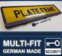 LIGHT Carbon Fibre Look Security Number Plate Surround Holder Frame Universal