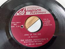 The Golden Sensational's 45 Song Mega Rare Black Gospel Richard Stars Links NM
