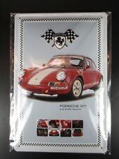 Chapa escudo Porsche 911, nostalgia escudo de metal 30 cm metal shield, nuevo