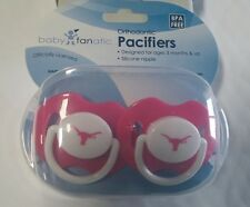 Texas Longhorns PINK Baby Infant Pacifiers NCAA NEW - 2 Pack SHOWER GIFT! girls