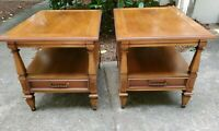 """Pair of HAMMARY FURNITURE Italian Provincial 21x27"""" Accent End Tables"""