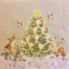 paper napkins decoupage x 2 wrendale Christmas Tree new design 25cm