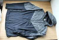 L Men's Fox Racing Diffuse Jacket Large New NWT Black Grey Hood