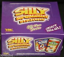 SILLY SUPERMARKET SEALED BOX 24 PKS TRADING CARD STICKERS LIKE WACKY PACKAGES