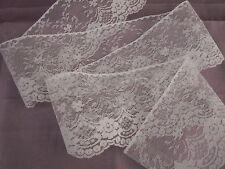 White Flat Lace Trim, 4 In Wide, 6 YARDS, Raschel Lace, Invitations, Apparel