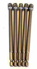 "5 GOLIATH INDUSTRIAL 6"" POWER EXTENSION BARS 3/8"" SCREW BITS SOCKET DRILL 10099"