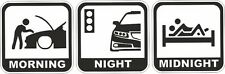 Mañana Noche Medianoche Funny Sticker Decal Vw Golf Clio Cors Vectra Polo Honda