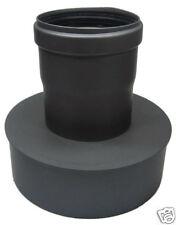 Ampliación Horno PELLETS TUBO kaminbuchse Ø 120/80mm Gris Uniforme + Sello Horno