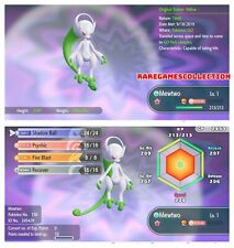 Pokemon Let's Go Pikachu Eevee ✨ SHINY ✨6 IV 1 LEVEL MEGA MEWTWO Y FAST DELIVERY