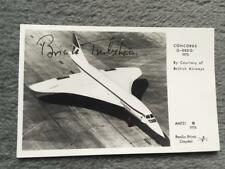 British Airways Concorde Postcard Signed Brian Trubshaw Midlands Airshow 1981