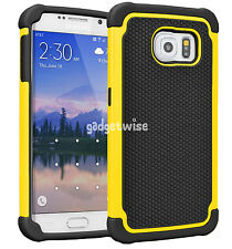 Hybrid Rugged Rubber Hard Defender Shockproof Case Cover For Samsung Galaxy S6