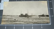Havana CUBA French Cruiser Boat Steamship Harbor 1920's Vintage Snapshot PHOTO