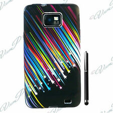 Accessorie Gel Case Cover Colour Star Shooting Black Samsung Galaxy S2 Stylus
