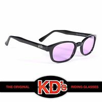 KD's Black Frame Purple Lens Sunglasses Harley Davidson ASO Sons of Anarchy