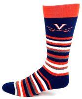 Virginia Cavaliers NCAA Muchas Rayas Crew Fuzzy Socks