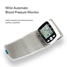Digital Wrist Blood Pressure Monitor LCD USB Charging With Voice Health Care