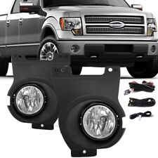 for 2011-2014 Ford F-150 F150 Clear Bumper Fog Lights Lamps w/Wiring+Switch PAIR