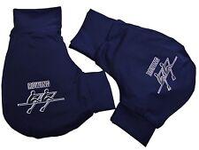 Handschuhe, Ruderhandschuhe marine blau mit Aufdruck, Rudern, Rowing