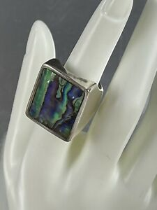 Barry Brinker Abalone Statement Ring Sterling Silver