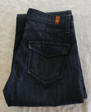 "7 For All Mankind Blue Denim Jeans Size 24""  Wide Leg"