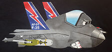 AF-01 F-35 Lightning Fighter Jet XL T Shirt Show Pony USA Air Force Cartoon