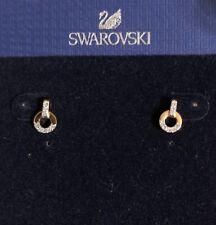 6cf24d43b Swarovski 5350653 Circle Stud Pierced Earrings - White Rose Gold Plating NWT  $40