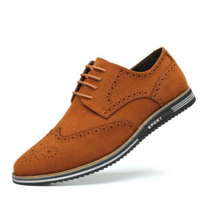British Style Fashion Men Brogue Carved Frosted Artificial Pu Leather Shoes New