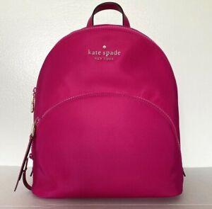 New Kate Spade Karissa Nylon Medium backpack Bright Magenta