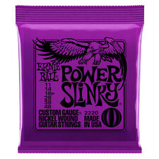 Ernie Ball 2220 Power Slinky Nickel Electric Guitar Strings for Rock Blues 11-48