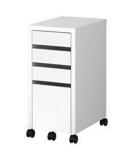 "Brand New, IKEA MICKE  Drawer unit/drop file storage, White, 13 3/4x29 1/2"""
